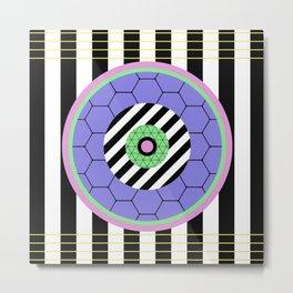 Bold Pastel Geometry Metal Print