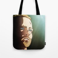 jesse pinkman Tote Bags featuring 187 (Jesse Pinkman - Breaking Bad) by Pana Stamos