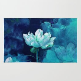 Moonlight Water Lily Rug