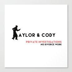 Taylor & Cody Card Canvas Print