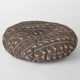 Giraffe & Okapi Animal Print Floor Pillow