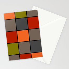 Colorful squares 2 Stationery Cards