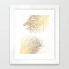 Palm leaf synchronicity - gold Framed Art Print