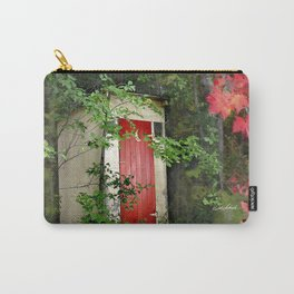The Red Outhouse Door Carry-All Pouch