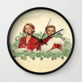 Sisters - A Merry White Christmas Wall Clock