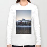 prague Long Sleeve T-shirts featuring Prague Castle by Erik Witsoe Photography