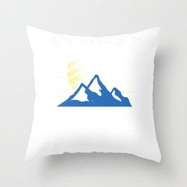 Mount Everest Adventure Awaits Mountain Climbing Throw Pillow