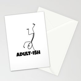 Adult-ish Funny Stick Figure Stationery Cards