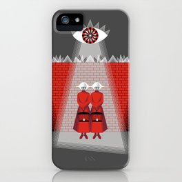 The Wall - The Red Handmaid Collection by ©2018 Balbusso Twins iPhone Case