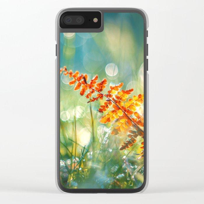 Autumn Memories Clear iPhone Case