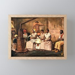 """Classical Masterpiece: Eyre Crowe's """"Slaves Waiting for Sale"""" (1861) Framed Mini Art Print"""