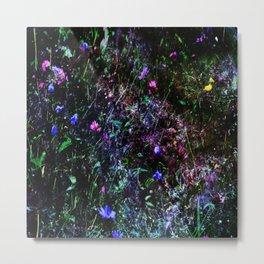 Galaxy Flowers Metal Print