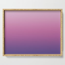Pink Ultra Violet Ombre Gradient Pattern Serving Tray