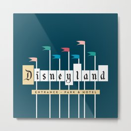 Theme Park Entrance | Navy Metal Print
