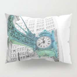 The Blue Chicago Clock Pillow Sham