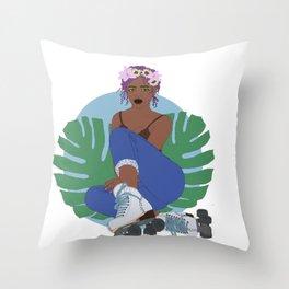 Wall Flower Throw Pillow