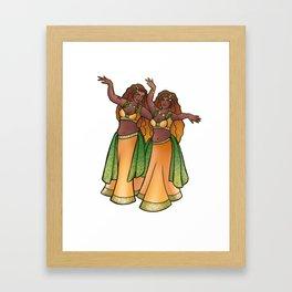 Gemini Belly Dancers Framed Art Print