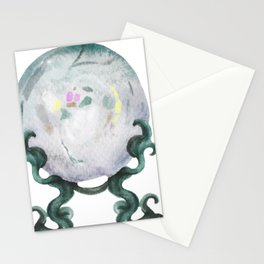 Watercolor magic mysterious objets illustration Stationery Cards