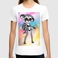 anime T-shirts featuring Anime Raccoon by Simone Gatterwe