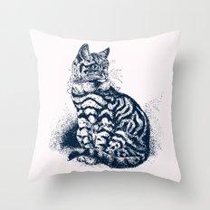 Vintage Kitty Cat Club Throw Pillow