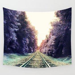 train TRACKS : Fond Dreams Wall Tapestry