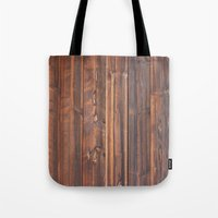 wooden Tote Bags featuring wooden by Katharina Nachher