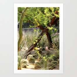 Sunnyland Gardens Scene Palo Brea in Foreground in Portrait Art Print
