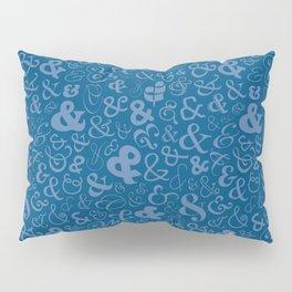 Ampersands - Blue Pillow Sham