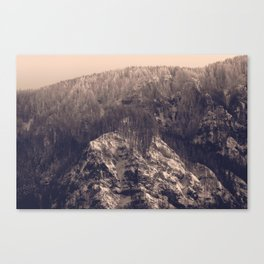 Early Hours - Winter Mountain Forest Snow Nature Photography Canvas Print