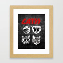 kiss catsKISS cats kitty pussy album cover art funny metal band all night crazy Framed Art Print