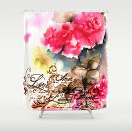 Roses Card Shower Curtain