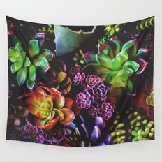 Colorful Succulent Plants Wall Tapestry