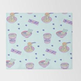 Pastel Ramen Pattern Throw Blanket