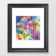 Cuben Curved #6 Geometric Art Print. Framed Art Print