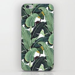 banana leaf pattern iPhone Skin