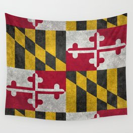 State flag of Flag of Maryland, Vintage retro style Wall Tapestry