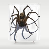 spider Shower Curtains featuring SPIDER by aztosaha