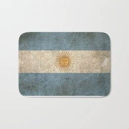 Old and Worn Distressed Vintage Flag of Argentina Bath Mat