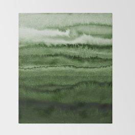WITHIN THE TIDES FOREST GREEN by Monika Strigel Throw Blanket