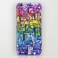hong kong iPhone & iPod Skins featuring Hong kong by 2tehmax
