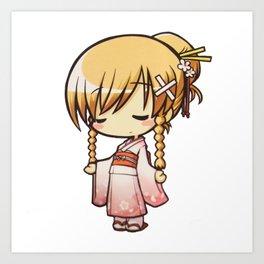 CHIBI (Kimono Version) Art Print