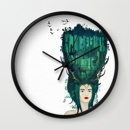 Rococo: My lady of the wilderness Wall Clock
