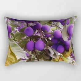 Autumn Harvest Days Plums Rectangular Pillow