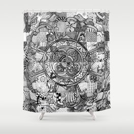 Tibetan Crest Shower Curtain