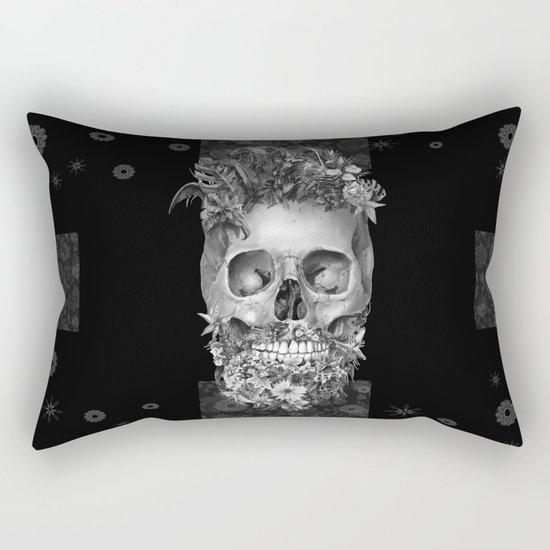 floral beard skull 3 Rectangular Pillow