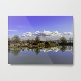 Manor house landscape Metal Print