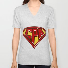 Accountant Superhero product, CPA print, Finance Tee Unisex V-Neck