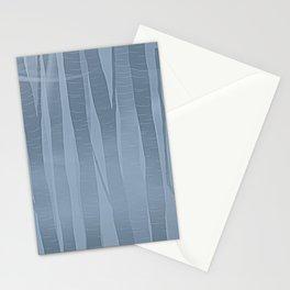 Woodland -  Minimal Blue Birch Forest Stationery Cards