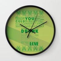 drunk Wall Clocks featuring DRUNK by Insait Disseny