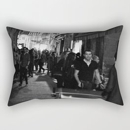 Golden triangle night life - Bordeaux Rectangular Pillow